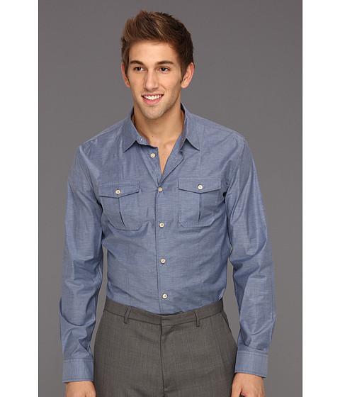 Camasi John Varvatos - Luxe Slim Fit Double Pocket Sport Shirt - Officer Blue