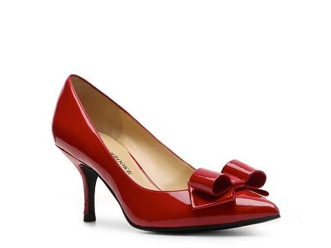 Pantofi Audrey Brooke - Mary Patent Pump - Red