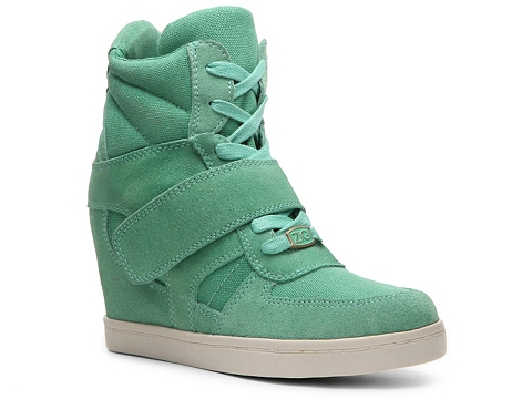 Adidasi Zigi Soho - Kickin Suede Wedge Sneaker - Mint Green