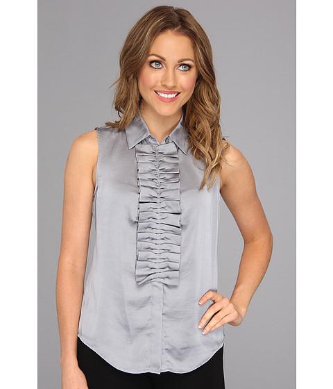 Bluze Nine West - Ruffle Front Blouse - Silver