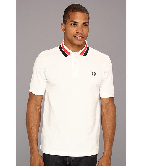 Tricouri Fred Perry - Bold Collar Tipping Polo - Snow White