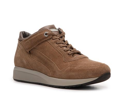 Pantofi Santoni - Suede Sport Oxford - Brown