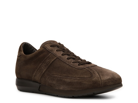 Pantofi Santoni - Suede Sneaker - Chocolate