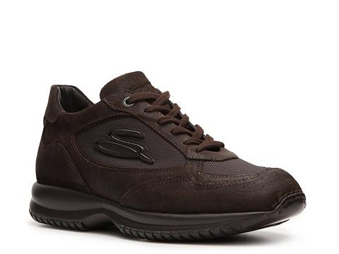 Pantofi Santoni - Suede and Canvas Sneaker - Chocolate