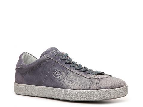 Pantofi Santoni - Distressed Suede Sneaker - Blue