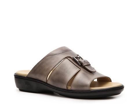 Pantofi Santoni - Mens Leather Band Slide - Pewter
