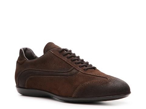 Pantofi Santoni - Distresed Suede Sport Oxford - Chocolate