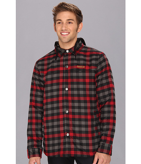 Bluze DC - Fernwood Flannel Shirt Hoodie - Black