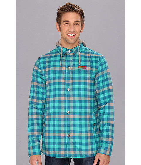 Bluze DC - Fernwood Flannel Shirt Hoodie - Columbia Green