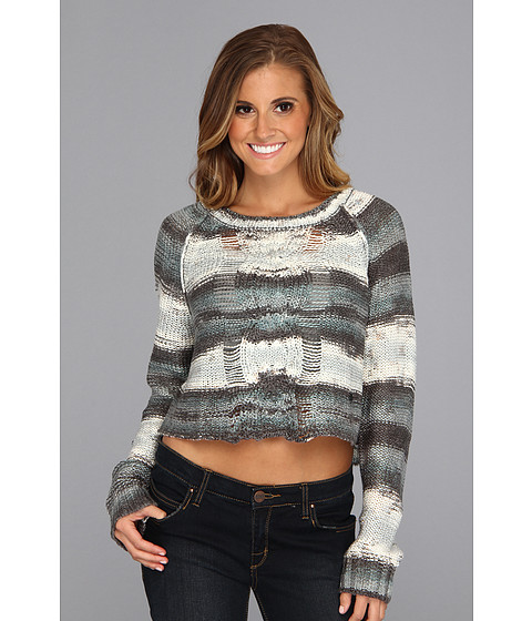 Bluze Fox - Glimmer Crop Sweater - Black