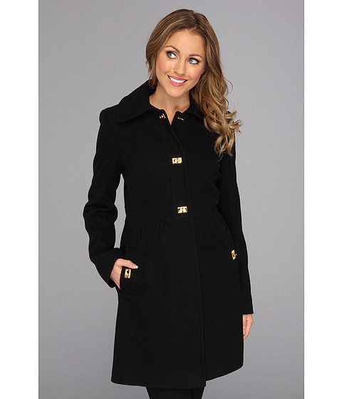 Jachete DKNY - Herringbone Turnkey Coat - Black