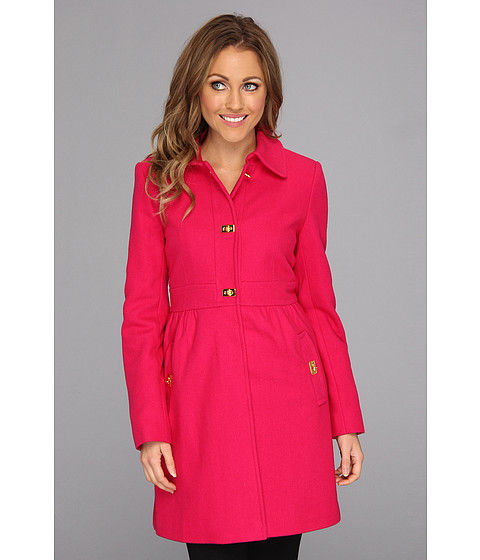 Jachete DKNY - Turn Key Baby Doll Coat - Lipstick
