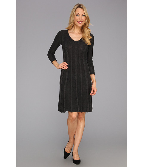 Rochii Nine West - Cable Knit A-Line Dress - Charcoal