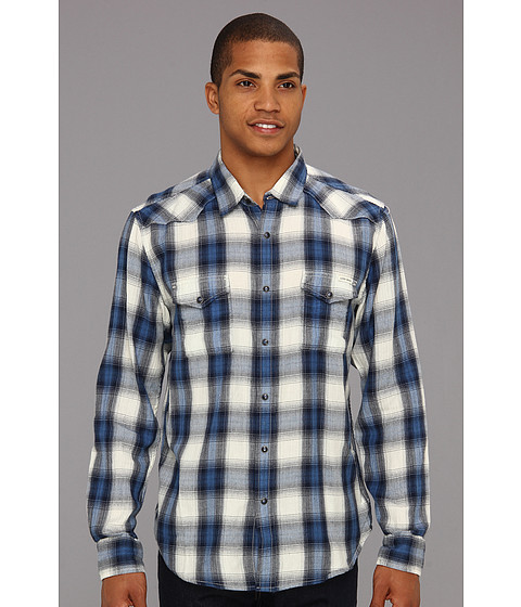 Bluze Lucky Brand - Spearhead Plaid Western - Blue/Navy/Natural