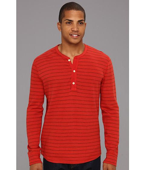 Bluze Lucky Brand - Striped Double Knit L/S Henley - Bossa Nova