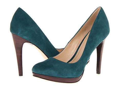 Pantofi Cole Haan - Chelsea High Pump - Dark Teal Suede
