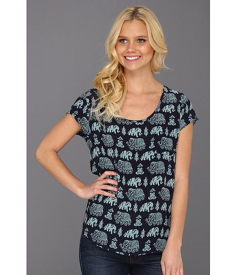 Bluze Lucky Brand - Adalyn Printed Elephant Tee - American Navy Multi