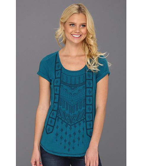 Bluze Lucky Brand - Akeelah Embroidered Raglan - Ocean Depths