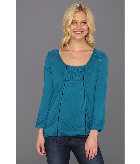 Bluze Lucky Brand - Cailey Cut Out Top - Ocean Depths