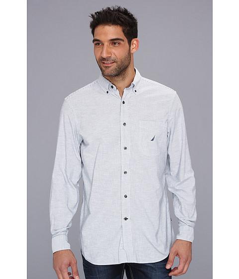 Bluze Nautica - Fine Stripe Oxford L/S Shirt - Lapis Blue