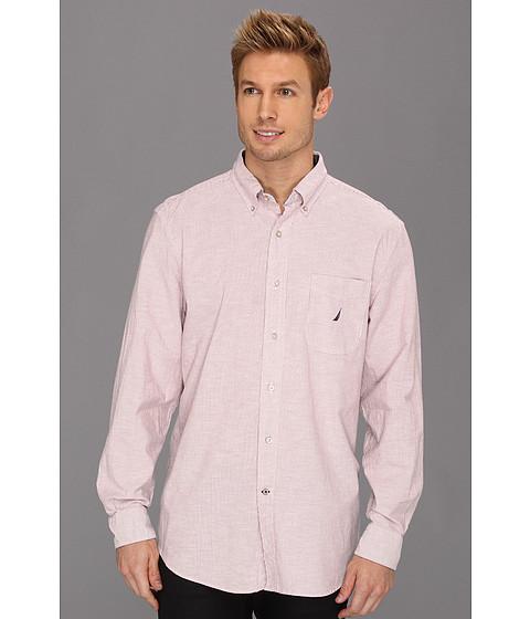 Bluze Nautica - Fine Stripe Oxford L/S Shirt - Rusted Hull