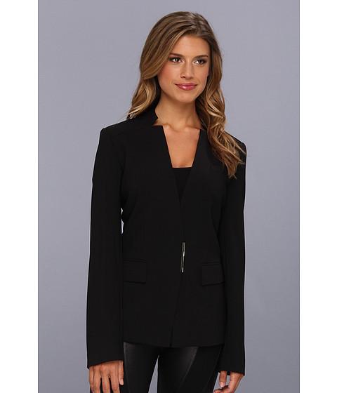 Sacouri Calvin Klein - No Collar Jacket with Closure Hardware - Black