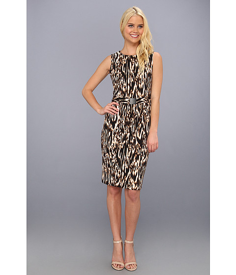 Rochii Calvin Klein - Printed Dress with Belt - Multi