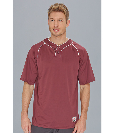 Tricouri New Balance - Two Button Jersey - Team Maroon