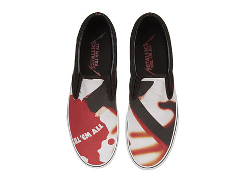 Adidasi Vans - Classic Slip-Onâ⢠x Metallica - (Metallica Kill Em All) Black/True White