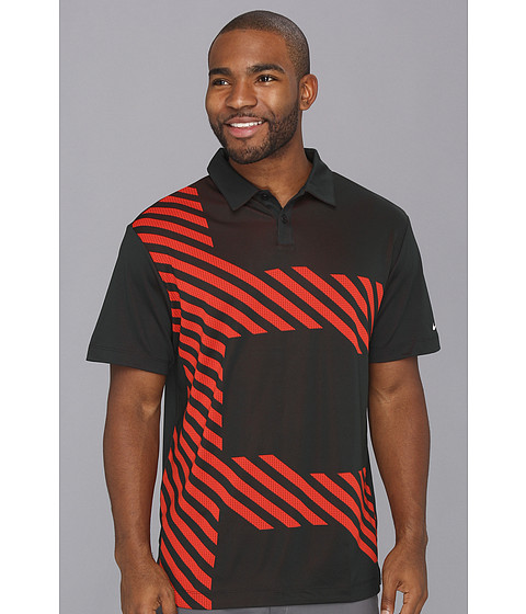 Tricouri Nike - Jacquard Stretch Polo - Black/Gamma Orange