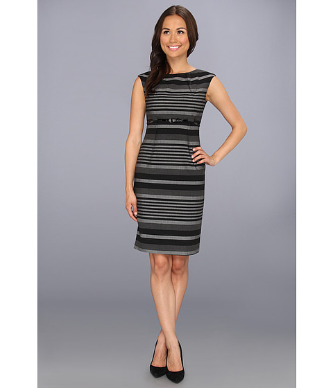 Rochii Calvin Klein - Stripe Dress CD3XGBD6 - Charcoal/Tin