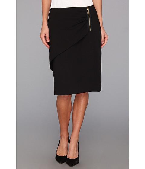 Fuste Calvin Klein - Skirt with Side Zipper - Black