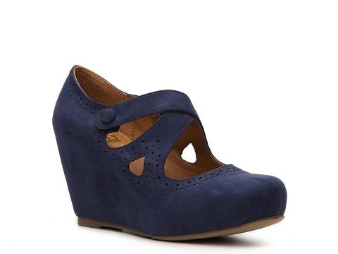 Pantofi Crown Vintage - Jester Wedge Pump - Navy
