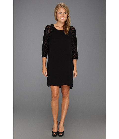 Rochii elegante: Rochie French Connection - Midnight Rose Top - Black/Black Lace