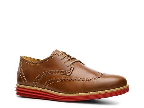 Pantofi Sandro Moscoloni - Drake Wingtip Oxford - Tan/Red