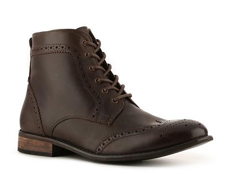 Pantofi Studio Ink - Cowboy Wingtip Boot - Brown