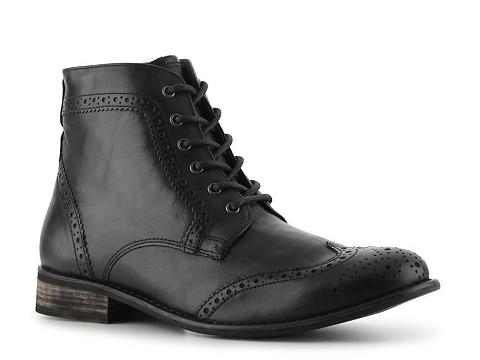 Pantofi Studio Ink - Cowboy Wingtip Boot - Black