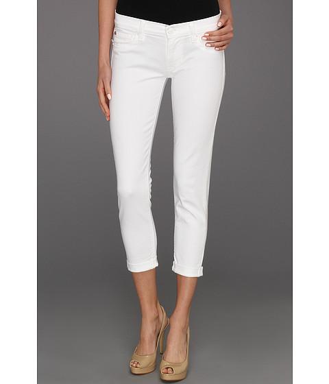 Blugi Hudson - Harkin Crop Super Skinny w/ Cuff in White - White
