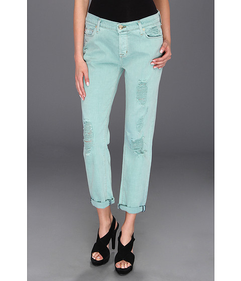 Blugi Hudson - Leigh Boyfriend Jean in Ice (Mint) - Ice (Mint)