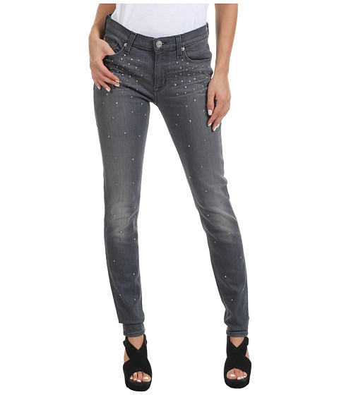 Blugi Hudson - Nico Mid Rise Super Skinny in Alloy Studded Ombre - Alloy Studded Ombre