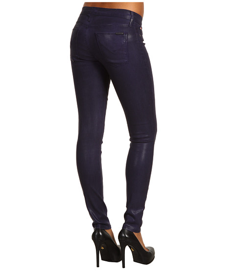 Blugi Hudson - Nico Mid Rise Super Skinny in Purple Coated - Purple Coated