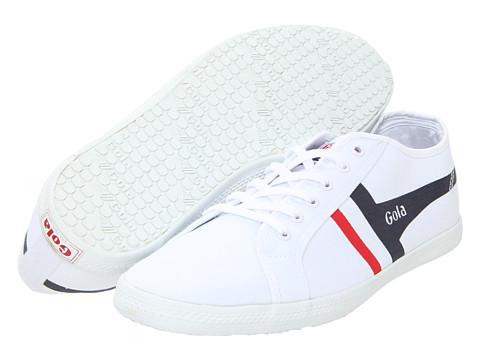 Adidasi Gola - Quattro - White/Navy/Red