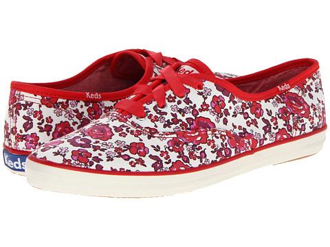 Balerini Keds - Champion Floral - Cream/Red