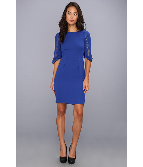 Rochii BCBGMAXAZRIA - Lexy 3/4 Sleeve Sheath Dress - Blue Sapphire
