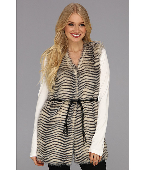 Jachete Betsey Johnson - Faux Fur Vest - Cream