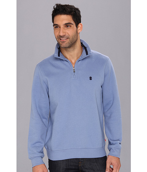 Bluze IZOD - Long Sleeve Half Zip Mock - Colony Blue