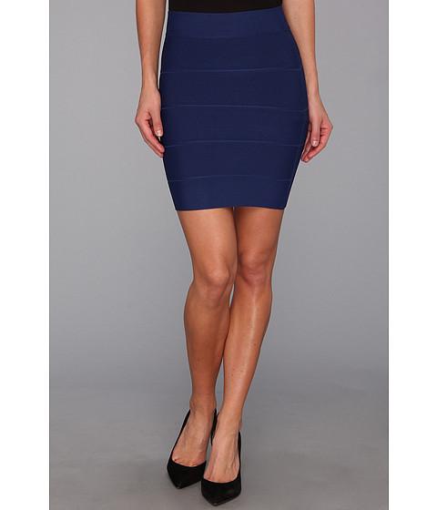 Fuste BCBGMAXAZRIA - Simone Textured Power Skirt - Blue Depth