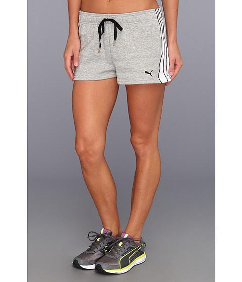 Pantaloni PUMA - Form Stripe Short - Athletic Grey Heather/White