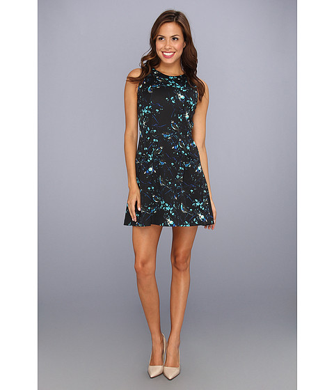 Rochii Jessica Simpson - Sleeveless Dropped Flounce Skirt Dress w/ Style Lines - Blue