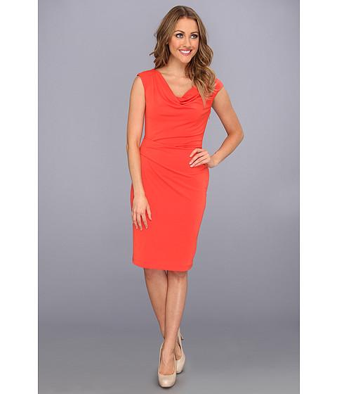 Rochii Vince Camuto - Cowl Neck Dress w/ Asymmetrical Detail - Orange